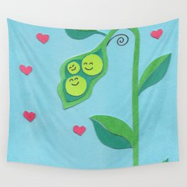 Pea Pod Love Wall Tapestry