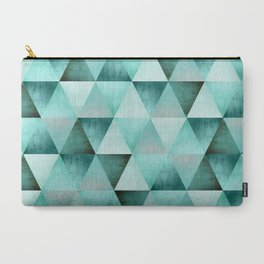 Tricked Out Triangles: Green Carry-All Pouch