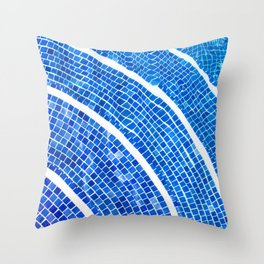 Swimming pool line Throw Pillow