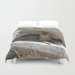Guardian Of The Ruins Duvet Cover