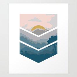 nature sunrise sunset forest gift Art Print