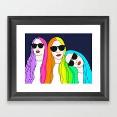 HAIM Framed Art Print
