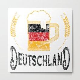 Deutschland German Flag Beer Lover Oktoberfest Metal Print