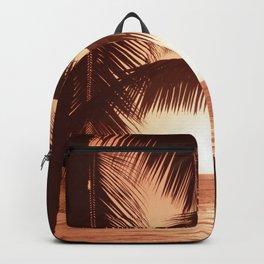 Warm Sunset Beach Backpack