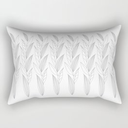 Eternity in Silver Leaf II Rectangular Pillow
