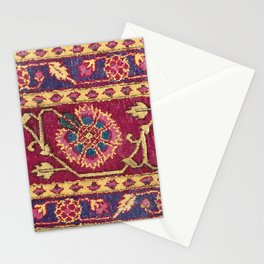 Mughal North Indian Late 17th Century Silk Carpet Print Stationery Cards