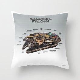 Millennial Falcon Throw Pillow