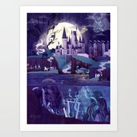 Art Prints featuring Never a Quiet Year at Hogwarts by Anne Lambelet