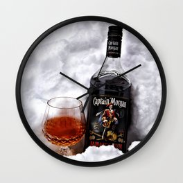 Ice Cold Captain Morgan Rum Wall Clock