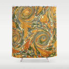 Old Marbled Paper 03 Shower Curtain