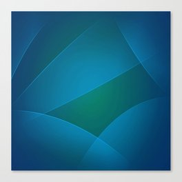 Venice Blue, Teal Blue & Deep Cerulean Colors Canvas Print