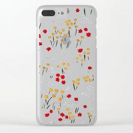 Wildflower Meadow Clear iPhone Case