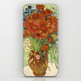 """Vincent van Gogh """"Still Life, Vase with Daisies, and Poppies"""" iPhone Skin"""