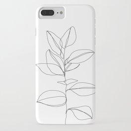One line plant illustration - Dany iPhone Case