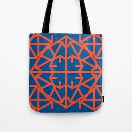Diamond Bug - Flame and Lapis Blue Tote Bag