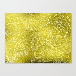 transparent white zen pattern gold gradient Canvas Print