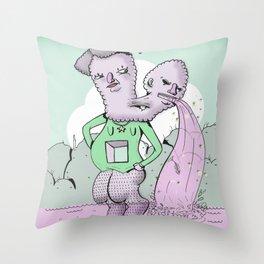 twinz Throw Pillow
