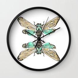 Summer Cicada – Mint & Tan Palette Wall Clock