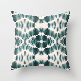 BOHEMIAN EMERALD SHIBORI Throw Pillow