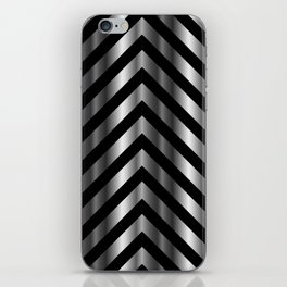 High grade raw material stainless steel and black zigzag stripes iPhone Skin