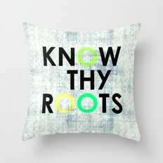 Know Thy Roots Throw Pillow