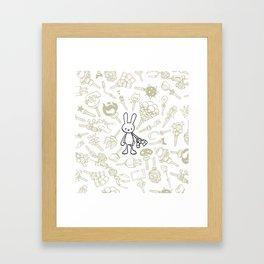 minima - beta bunny / gear Framed Art Print