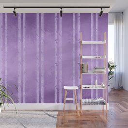 Purple Foil Stripes Wall Mural
