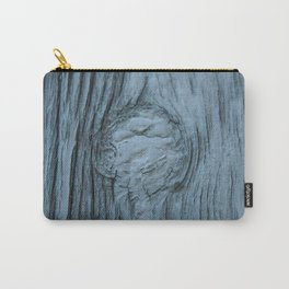 Frosted blue weathered wood Carry-All Pouch