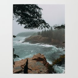 Foggy Morning in Acadia National Park Poster