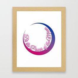 Bi the Power of the Moon | Inner Crescent Framed Art Print