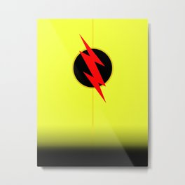 The Reverse Flash - Minimalist Poster Metal Print