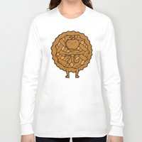 pi Long Sleeve T-shirts featuring Apple Pi by Perdita