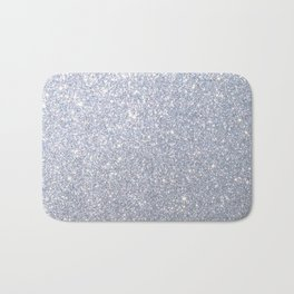Silver Metallic Sparkly Glitter Bath Mat