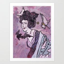 Love is a Bat Art Print