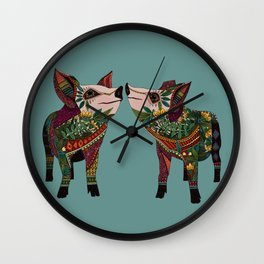 pig love jade Wall Clock