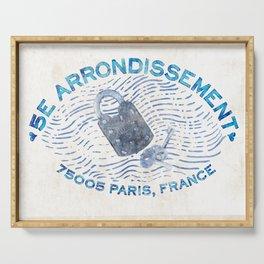 5E Arrondissement-Love Lock Bridge-Paris Serving Tray