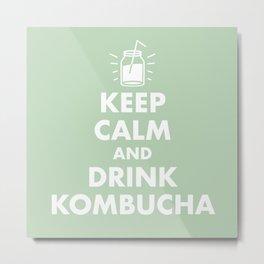 Keep Calm and Drink Kombucha Metal Print