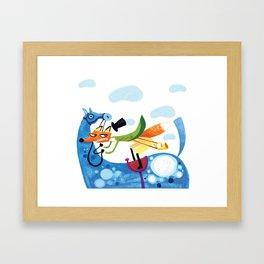 Riding Fox Framed Art Print