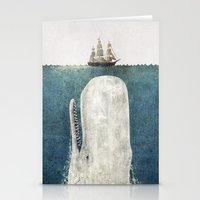 family Stationery Cards featuring The Whale - vintage  by Terry Fan