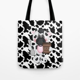 Cow Eating Ice Cream Tote Bag