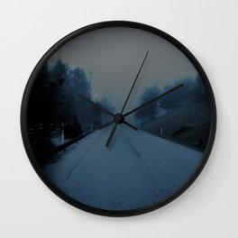 Lonely Road Wall Clock