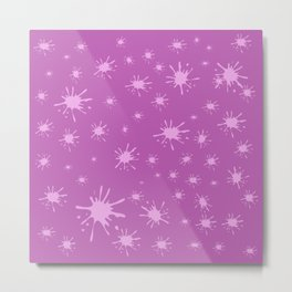 pink spots on pink background Metal Print