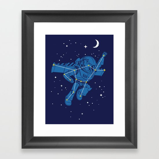 Universal Star Framed Art Print