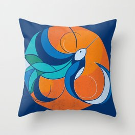 One with the sun Throw Pillow