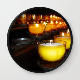 Church Candles Wall Clock