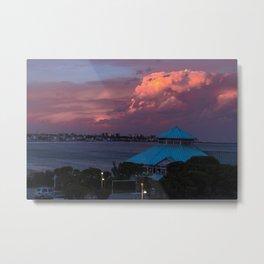 Sunset on the coast of Mar del Plata Metal Print