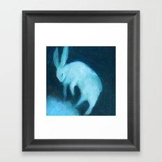 Ghost Bunny adrift Framed Art Print