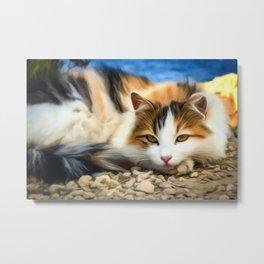 Cat Art For Animal Lover Metal Print