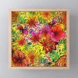 Tropical Hot Heat Flower Hibiscus Garden Framed Mini Art Print