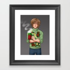 Tacky Christmas Sweater Framed Art Print
